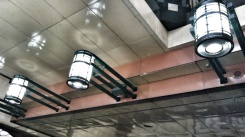 The prettiest lights of any tunnel station