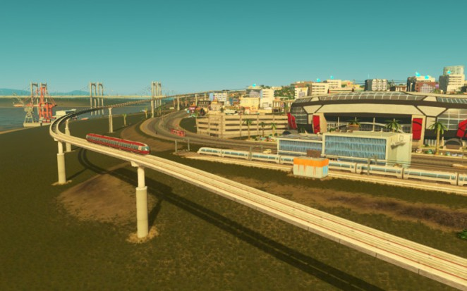 Monorail and Stadium