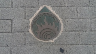 the walkways are well marked on the sidewalks